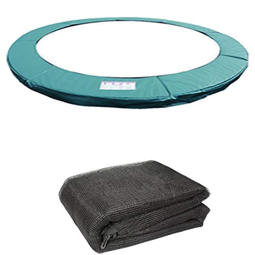 8FT Replacement Trampoline Spring Cover Padding Pad /& Safety Net Bundle Blue