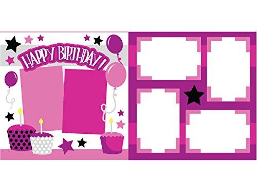 """Happy Birthday Pink"" Scrapbook Kit"