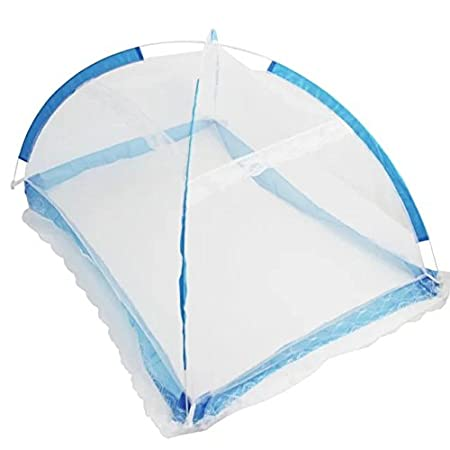 Sealive Foldable Baby Kids Infant Nursery Ger Tape Portable Bottomless Baby Bed Net with Stand Pack of 1