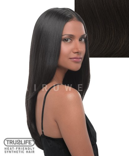 Tru2Life Styleable Extensions - 22 Inch Straight Clip In Extension - R6-Dark Chocolate/Medium Brown by HairDo