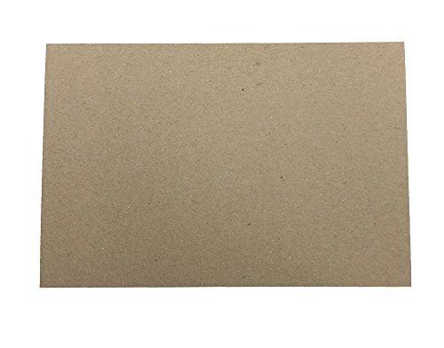 30pt 4' x 6' Brown Kraft Cardboard Chipboard (100 Pieces) Desktop Publishing Supplies Inc.