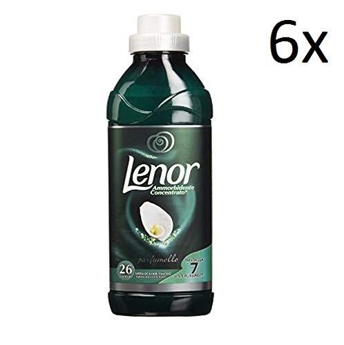 6x Lenor ammorbidente Esmeralda y marfil flores Suavizante concentrado 650ml