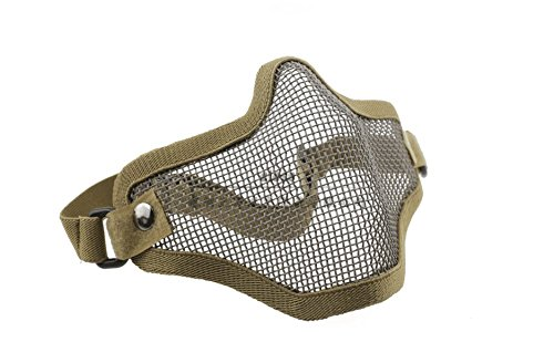 Lowpricenice Airsoft Half Face Mask With Wire Mesh Tan - Tan Mask