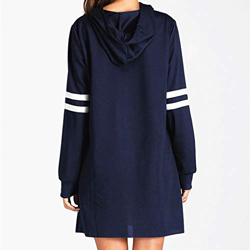 Hiver Shirt Sweat À Tee Robe Dark Pull Blue Top Manches Automne Rayé Longues 4aqqHwTxp