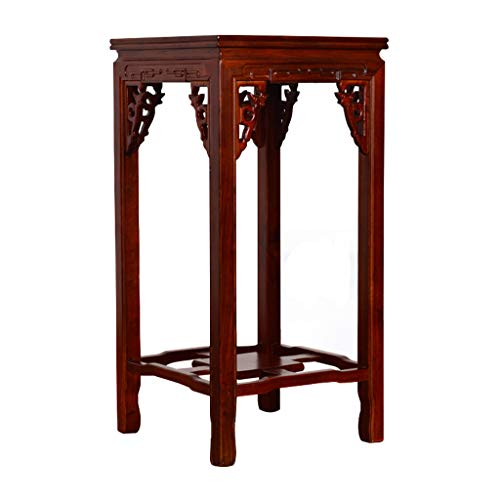 GF Flower Stand - Solid Wood Floor Beech Wood Flower Stand, Suitable for Living Room Balcony Multi-Function Flower Stand Home (Size : B)
