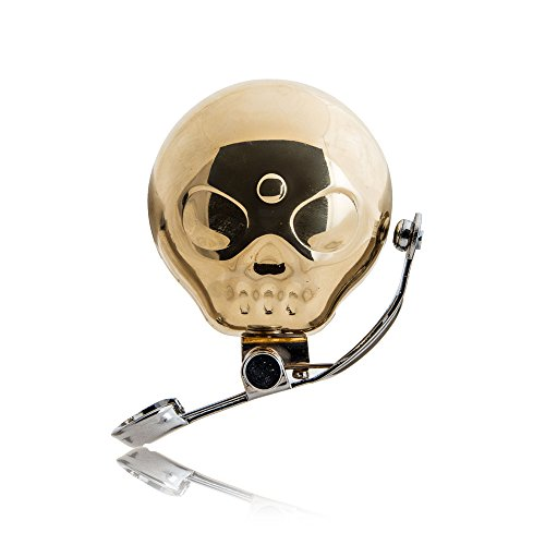 Suck UK Brass Skull Shaped Bike Bell with Sprung Thumb Lever - Unisex Cycling Accessory (Best Bmx Bikes Uk)