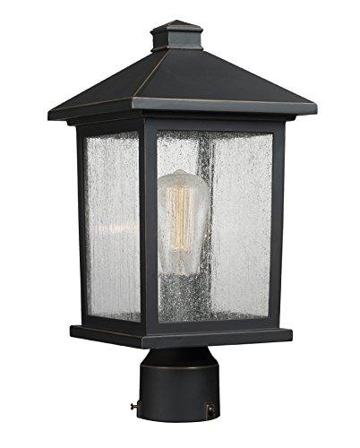 Portland 1 Bulb - Z-Lite 531PHMR-ORB 1 Post Mount Light 1