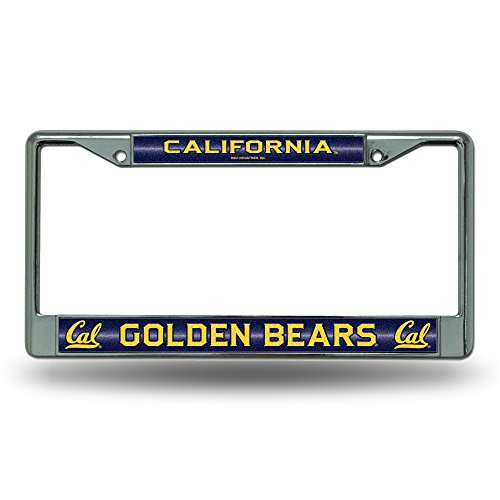 (NCAA California Golden Bears Bling Chrome License Plate Frame with Glitter Accent)