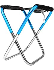 DEBBD - Minitaburete Plegable para Exteriores (fácil de Plegar, para Camping, Pesca, Tren, Silla Plegable de aleación de Aluminio)