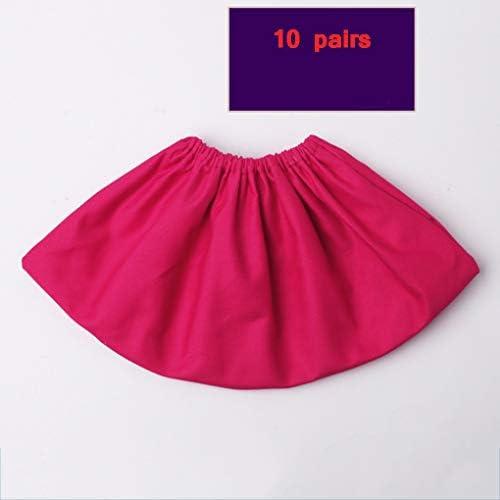 DUWX 綿の靴カバー、繰り返し洗濯でき、厚く、耐摩耗性、滑り止めの足カバー、学生のコンピューター室で使 (Color : A1, Size : 10 pairs)