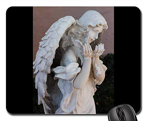 Mouse Pad - Angel Angelic Statue Sculpture Stone Religion