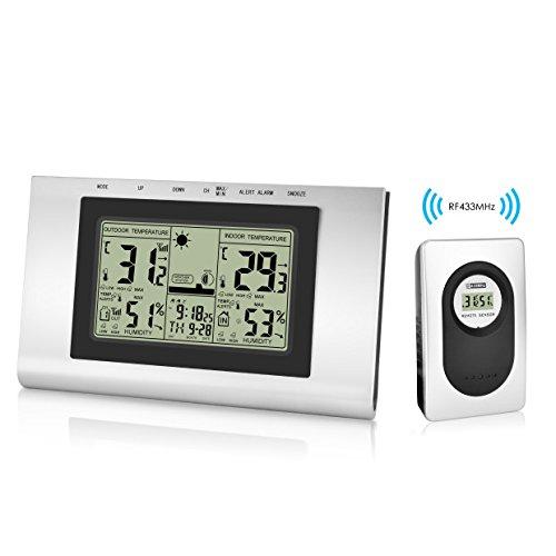 6 opinioni per Elinker Wireless Stazione Meteo Digitale Impermeabile Indoor Outdoor Termometro