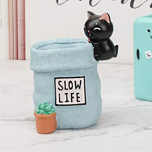 JIAHUADE Office Stationery Comet Pen Holder Cartoon Cute Pen Holder Decorative Desktop Ornaments Doll Home Student Gifts,A