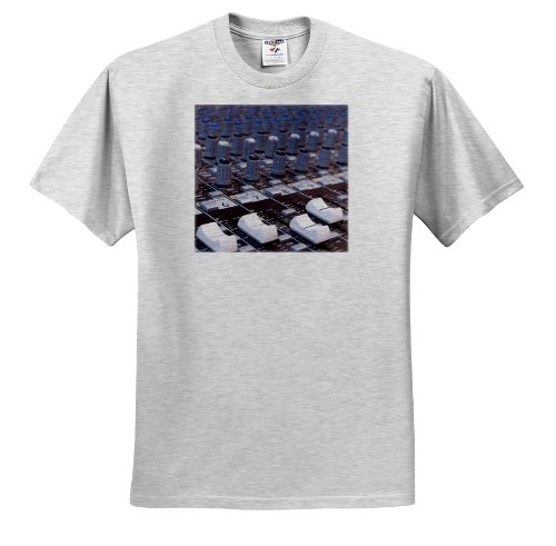 Carsten Reisinger Photography - Audio mixer board mixing engineer knobs sliders slider buttons studio recording - T-Shirts - Adult Birch-Gray-T-Shirt Large (ts_155066_20)