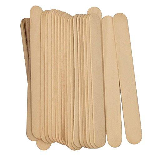 KINGZHUO 100Pcs 6'' Wax Spatulas Wooden Waxing Spatulas for Hair Removal Waxing Tongue Depressor Spatulas Ice-cream Sticks (6 Foot Wax Wood)
