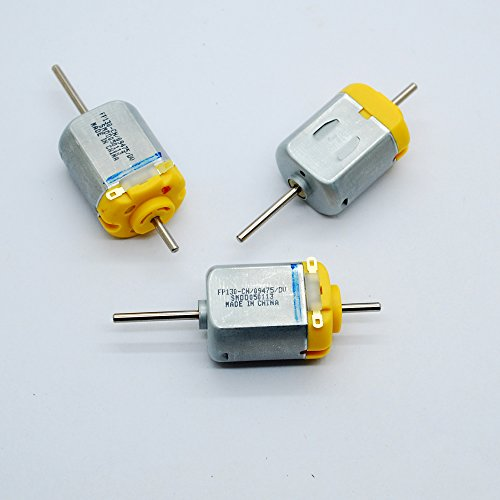 3pcs 1.5-12V DC Biaxial axis carbon brush 130 Motor Strong Magnetic 12V 5400RPM 6V 3000RPM Toy motor