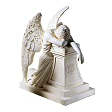 Design Toscano DB16 Angel of Grief Monument Statue: Desktop Ancient Ivory