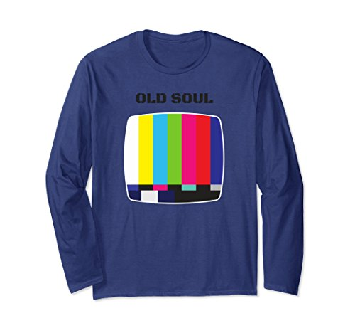 Unisex Old Soul TV Icon Long T Shirt Small Navy