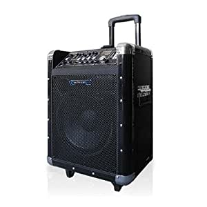 technical pro wasp800uibt 8 portable pa system with rechargeable battery wireless. Black Bedroom Furniture Sets. Home Design Ideas