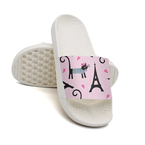 GKEPJYVCK Love Paris Peace Eiffel Tower Men's Flip Flops Low Top Cute White by GKEPJYVCK (Image #2)