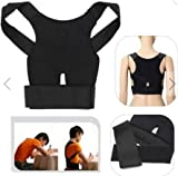 Back Support Belt Lumbar Shoulder Posture Spine Correction Straighten Brace by SiamsShop