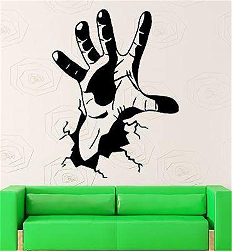 Wall Decal Wall Written Vinyl Wall Decals Quotes Sayings Words Art Deco Lettering Hand Crack Joke Funny Cool Room Bed