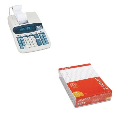 KITUNV20630VCT12603 - Value Kit - Victor 1260-3 Two-Color Heavy-Duty Printing Calculator (VCT12603) and Universal Perforated Edge Writing Pad (UNV20630) by Victor