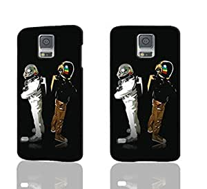 Daft punk Pattern Image - Protective 3d Rough Case Cover - Hard Plastic 3D Case - For Samsung Galaxy S5 i9600