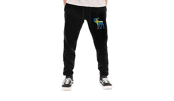 O-My Pantalones de chándal de Bandera Sueca para Hombre Pantalones ...
