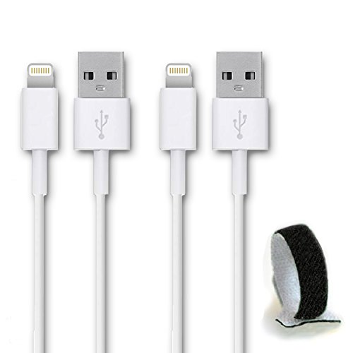 SideTech (TM) 10 Feet 8 Pin Premium Durable iPhone 5/6 Data Sync / Charging Cable for iPhone 6, 6 Plus, 5, 5C, 5S, iPad Air, iPad Mini - Excellent Quality USB to 8 Pin Sync/Charging Data Cable - Quick Charging Certified Quality. Newest iPhone, iPod Compatible with iOS 8 SHIPPED IN SAME BUSINESS DAY(10 FT Bundle of 2 White Nylon Cable)