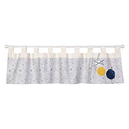 Trend Lab Galaxy Window Valance, Gray/Cream