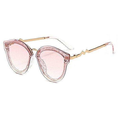 New fashion copy metal multi-color box ladies gradient ocean film cat sunglasses ()