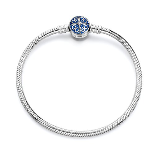 Bracelets, 925 Sterling Silver Snake Chain Basic Charm Bracelet Long Way Fine Jewelry for Women, Best Valentine's Day Gift for Girlfriend Wife Mother,7.5Inch