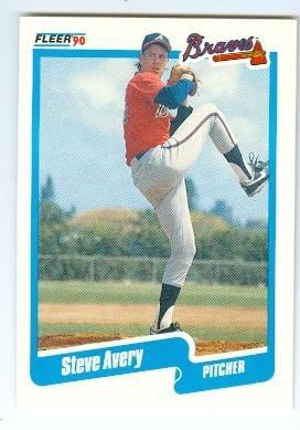 Steve Avery baseball card (Atlanta Braves) 1990 Fleer #U1 Rookie Update