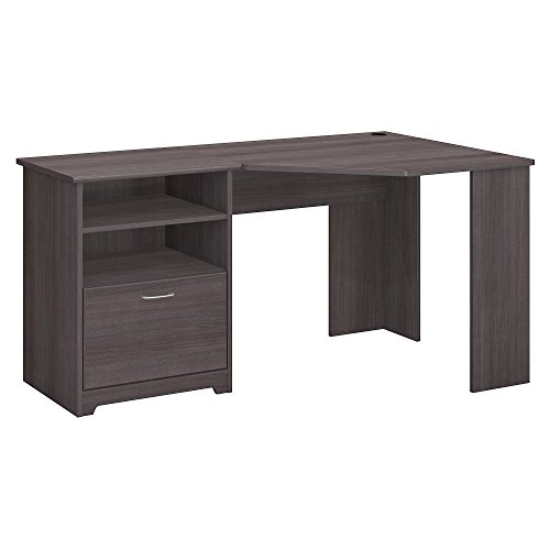Collection Hutch Corner (Bush Furniture Cabot Corner Desk in Heather Gray)