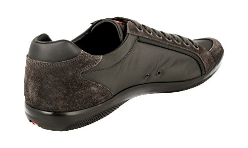 Prada Hombres 4e2439 D7c F0207 Sneaker De Cuero