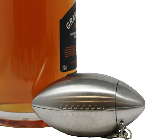 Premium 6 oz Football Shape 304 (18/8) Food Grade Stainless Steel Hip Alcohol Liquor Flask - BPA free and Leak and Rust Proof - Discrete Drinking Gift