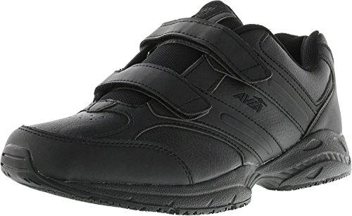 Avia Women's Avi Walker Strap Walking Shoe,Black/Chrome Silver/Lemon Yellow,8.5 M US