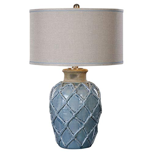 Uttermost 27139-1 Parterre Table Lamp, Pale Blue