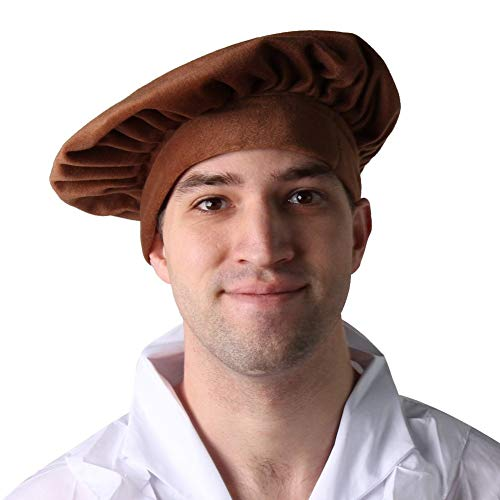 Costume Renaissance Beret Peasant Style Hat (Teen/Adult, Brown)