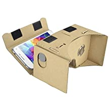 """Google Cardboard 3D Virtual Reality Glasses with Headband Strap Compatible With Android Smartphone Apple IOS iPhone 5.1"""" Screens by Insten"""