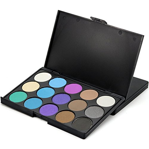 Molyveva 15 Colors Women Makeup Neutral Nudes Warm Eyeshadow Palette Cosmetic Palette (Old Lady Halloween Makeup Tutorial)