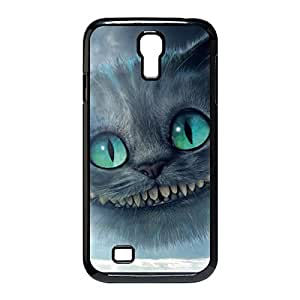 Custom Personalized Damage Proof Back Case Cover with Cheshire Cat Quotes We Are All Mad Here for Samsung Galaxy S4 I9500 -Black030901