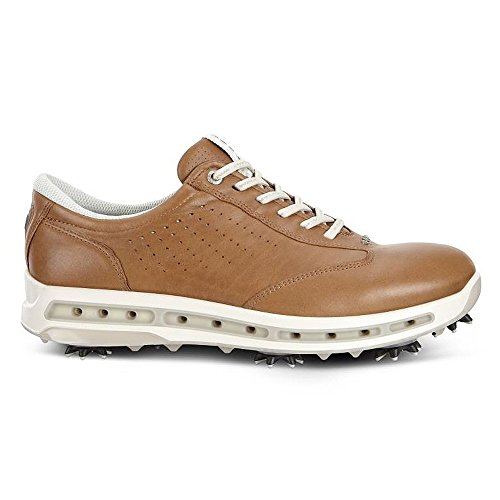 ECCO Men's Cool Gore-Tex Golf Shoe, Camel, 45 EU/11-11.5 M US (Golf Camel Shoe)