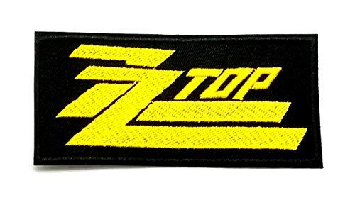 (Wasuphand Rock Band Heavy Metal Music Sew Embroidered Iron on Patch Sew Iron On Patch Embroidered Heavy Metal Rock Music Band Applique ZZ TOP)