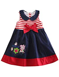 Girls Dress Sleeveless Cotton Sundress Casual Summer Kids Clothes Swing Dress for 1-6 Years Kids