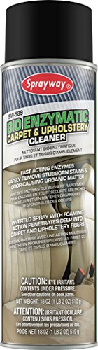 Sprayway SW589 Bio Enzymatic Carpet and Upholstery Cleaner, 18 oz ()