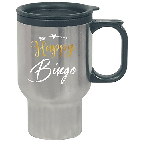 Happy Bingo Name Gift Mothers Day Present Grandma - Travel Mug by My Family Tee