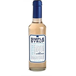 Stirrings pure cane simple syrup cocktail mixer, 12 ounce bottle   pack of (1)   1 welcome to the purest simple syrup cocktail mixer available. Made with pure, filtered water and natural cane sugar; stirrings simple syrup provides just the right amount of sweetness to your favorite cocktail. Use for flavoring coffees, teas, and baked goods. Bring the coffee shop experience into your own home by adding simple syrup mixes into your morning coffee, tea, or iced coffee. Drizzle over cakes and other confections to rescue dry or flat cakes, or to moisten for the ultimate presentation. Free of high fructose corn syrups, harmful ingredients, and synthetic preservatives. Unlike the competition, which relies on high fructose corn syrup and other harmful ingredients; our formula is built on real, pure cane sugar. Our product is also glass-packaged and bpa free!