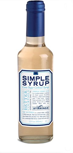 Stirrings Pure Cane Simple Syrup Cocktail Mixer, 12 ounce bottle | Pack of (1) | 1 WELCOME TO THE PUREST SIMPLE SYRUP COCKTAIL MIXER AVAILABLE. Made with pure, filtered water and natural cane sugar; Stirrings Simple Syrup provides just the right amount of Sweetness to your favorite cocktail. USE FOR FLAVORING COFFEES, TEAS, AND BAKED GOODS. Bring the coffee shop experience into your own home by adding Simple Syrup mixes into your morning coffee, tea, or iced coffee. Drizzle over cakes and other confections to rescue dry or flat cakes, or to moisten for the ultimate presentation. FREE OF HIGH FRUCTOSE CORN SYRUPS, HARMFUL INGREDIENTS, AND SYNTHETIC PRESERVATIVES. Unlike the competition, which relies on High Fructose Corn Syrup and other harmful ingredients; our formula is built on real, pure cane sugar. Our product is also glass-packaged and BPA Free!